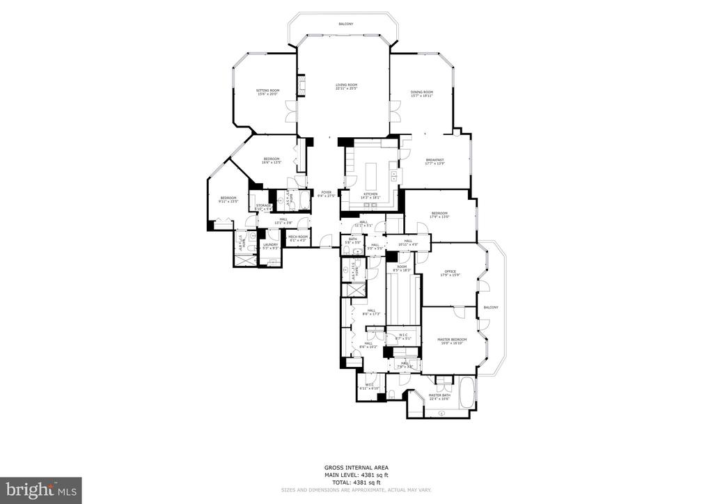 Floorplan - 5630 WISCONSIN AVE #905, CHEVY CHASE