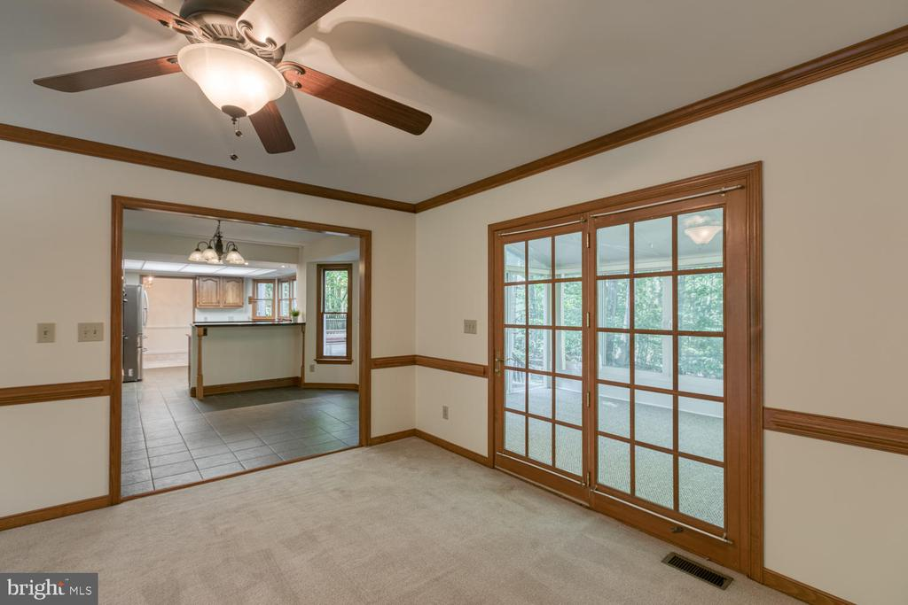 French door leading to the Sunroom - 2305 HARPOON DR, STAFFORD