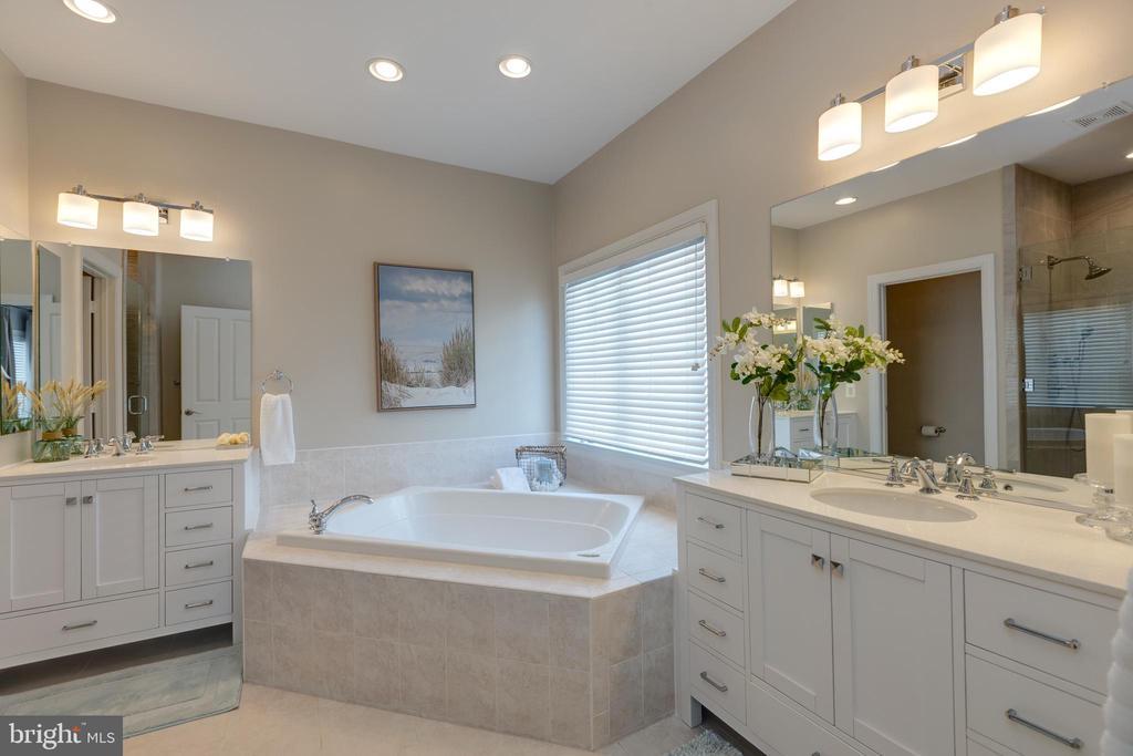 Master Bathroom w/ Soaking Tub - 22749 HIGHCREST CIR, BRAMBLETON