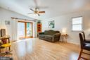 Spacious living room that is full of natural light - 413 LIBERTY BLVD, LOCUST GROVE