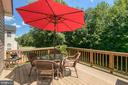 Composite Deck Eating Area - 3 ETERNITY CT, STAFFORD