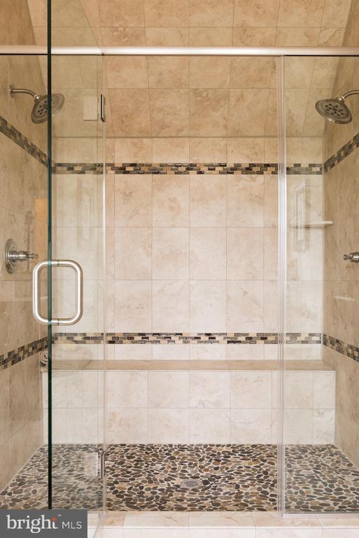 The amazing roman shower with stone floor! - 25748 RACING SUN DR, ALDIE