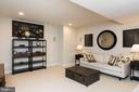 Media room with surround sound and screen - 25748 RACING SUN DR, ALDIE