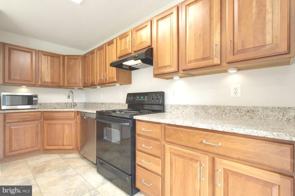 Spacious kitchen with tons of cabinets. - 255 TOWN BRANCH TER SW, LEESBURG