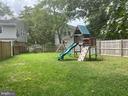 Fully fenced back yard area - 8333 BLOWING ROCK RD, ALEXANDRIA