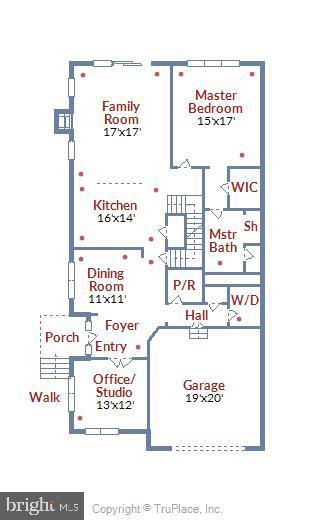 Main Level Floor Plan - 19433 SASSAFRAS RIDGE TER, LEESBURG