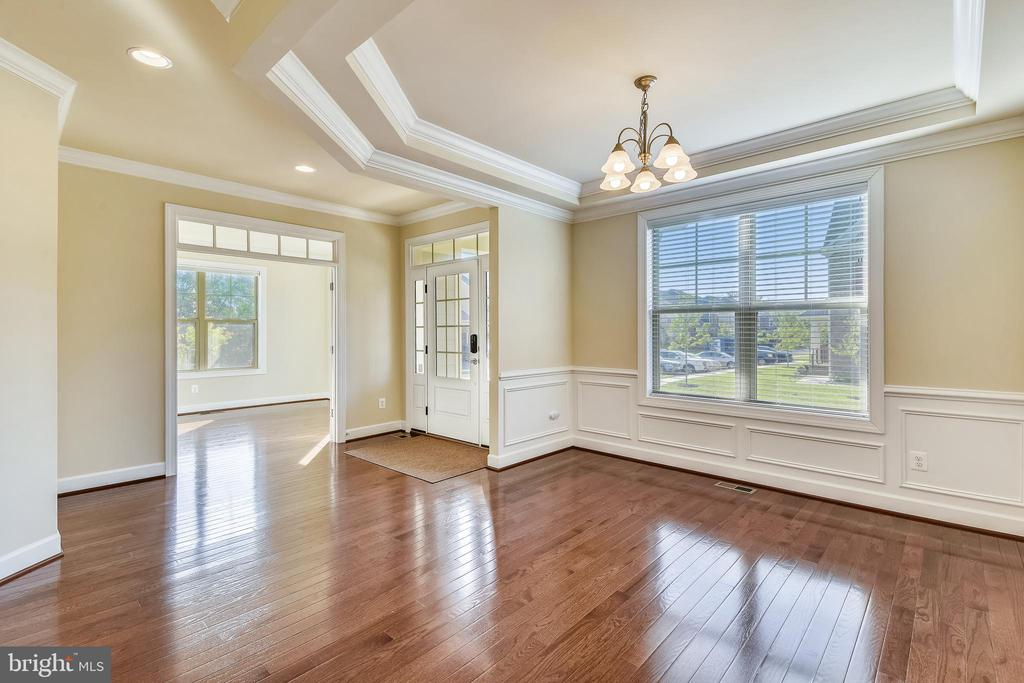 Tray ceiling and extensive wood moulding. - 19433 SASSAFRAS RIDGE TER, LEESBURG