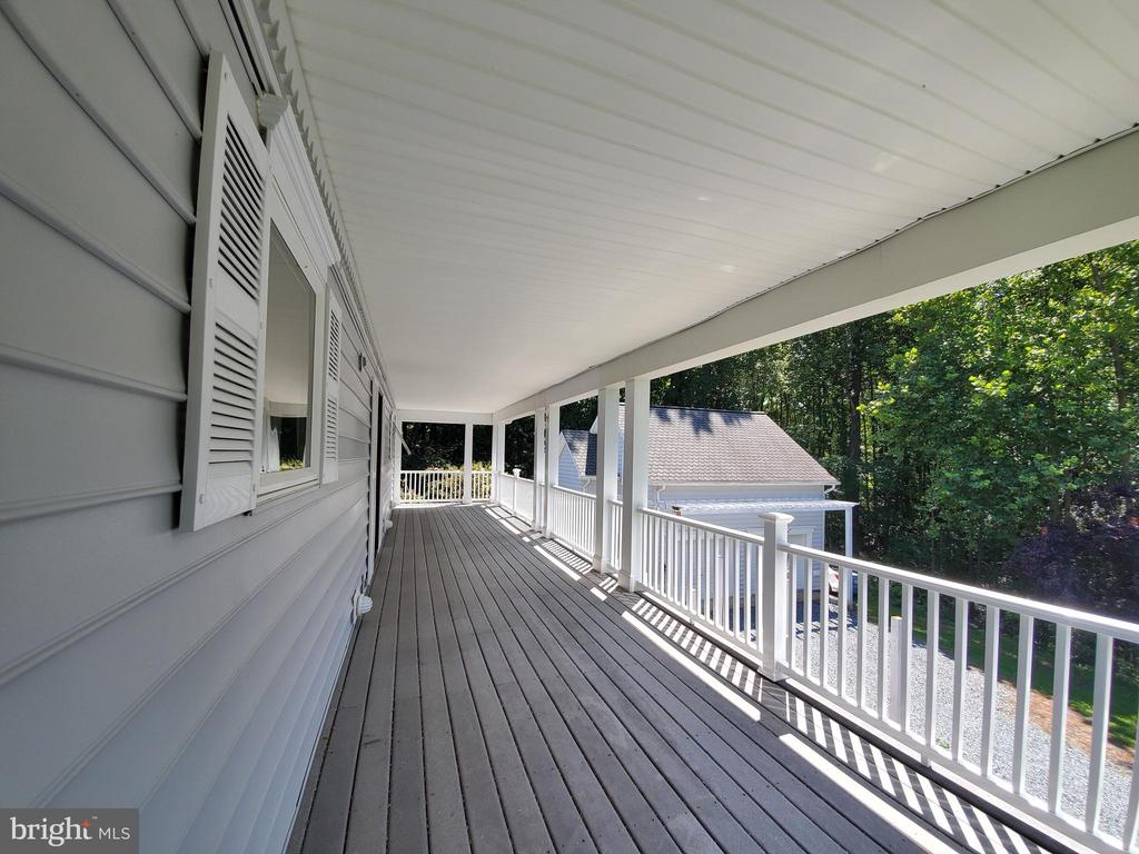 From a front balcony.  Detached garage/studio. - 36 POCAHONTAS LN, STAFFORD