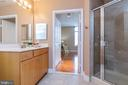 View of shower with ceramic surround - 1201 N GARFIELD ST #316, ARLINGTON