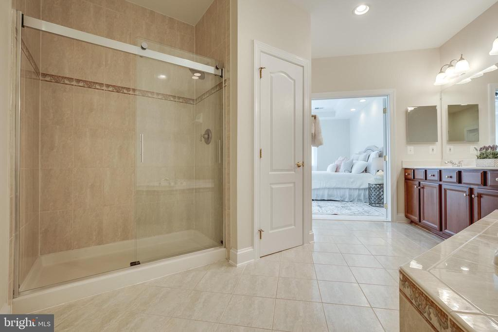 MasterBathroom with shower and New Glass Door - 18857 ACCOKEEK TER, LEESBURG