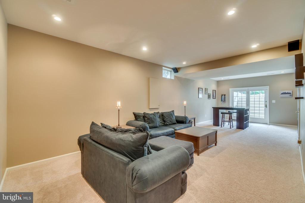 Finished lower level recreation room - 19920 HAZELTINE PL, ASHBURN