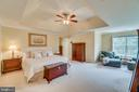 Master suite with tray ceiling - 19920 HAZELTINE PL, ASHBURN