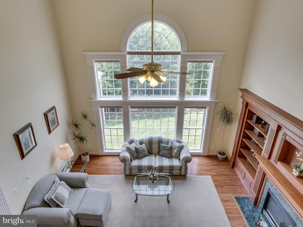 Looking down into the Family Room. - 42294 IRON BIT PL, CHANTILLY