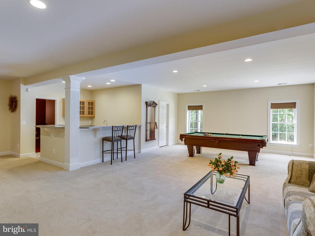Large Recreation Room in basement. - 42294 IRON BIT PL, CHANTILLY