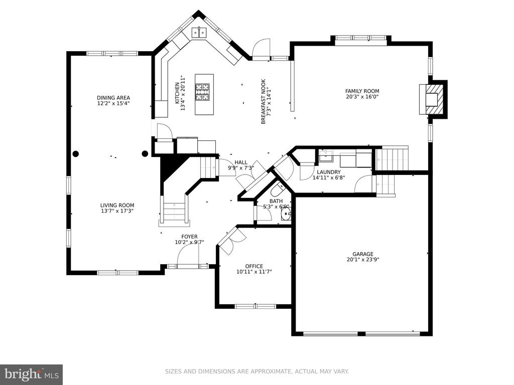 Main Level Floorplans - 19920 HAZELTINE PL, ASHBURN