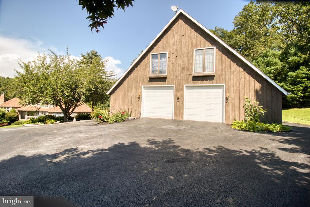 Outbuilding with large, two car garage - 14016 HARRISVILLE RD, MOUNT AIRY