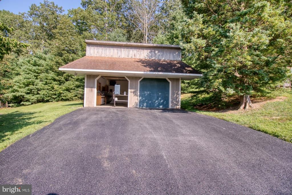 2nd outbuilding with garage and shop - 14016 HARRISVILLE RD, MOUNT AIRY
