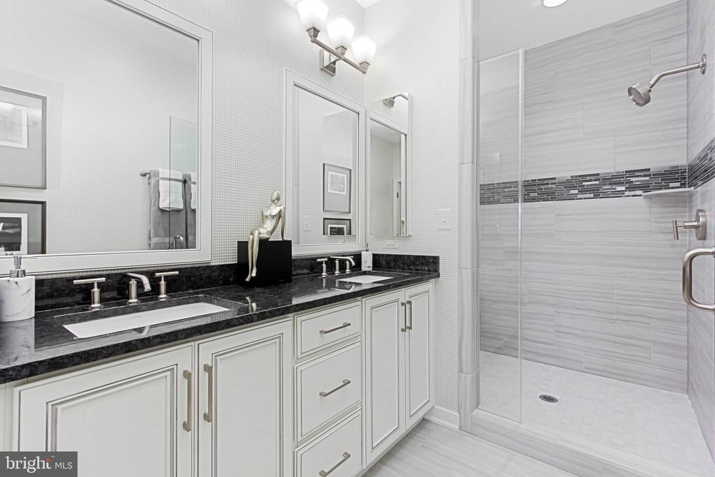 Walk in Primary Shower with Frameless Shower Door - 1889 EASTERLY RD #3010, RESTON