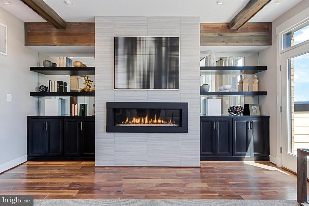 Optional Linear Fireplace. Model Photography. - 1889 EASTERLY RD #3010, RESTON