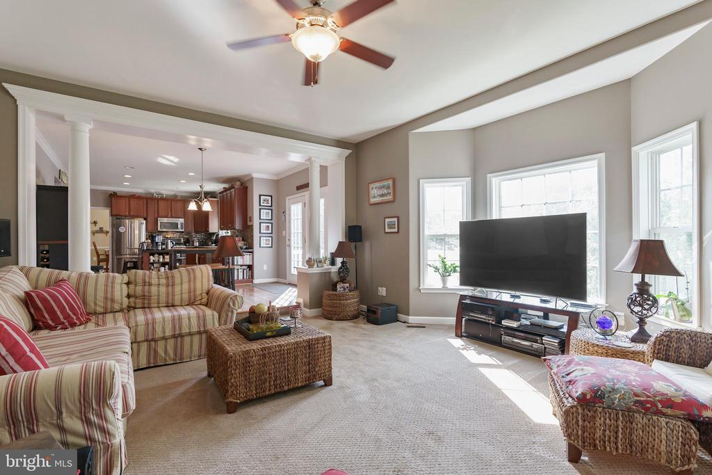 Large bay window looks into private,  treed yard. - 12 BLOSSOM TREE CT, STAFFORD