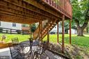 Patio with views of spacious backyard - 701-B WIRT ST SW, LEESBURG