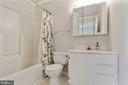 Secondary bathroom - 701-B WIRT ST SW, LEESBURG