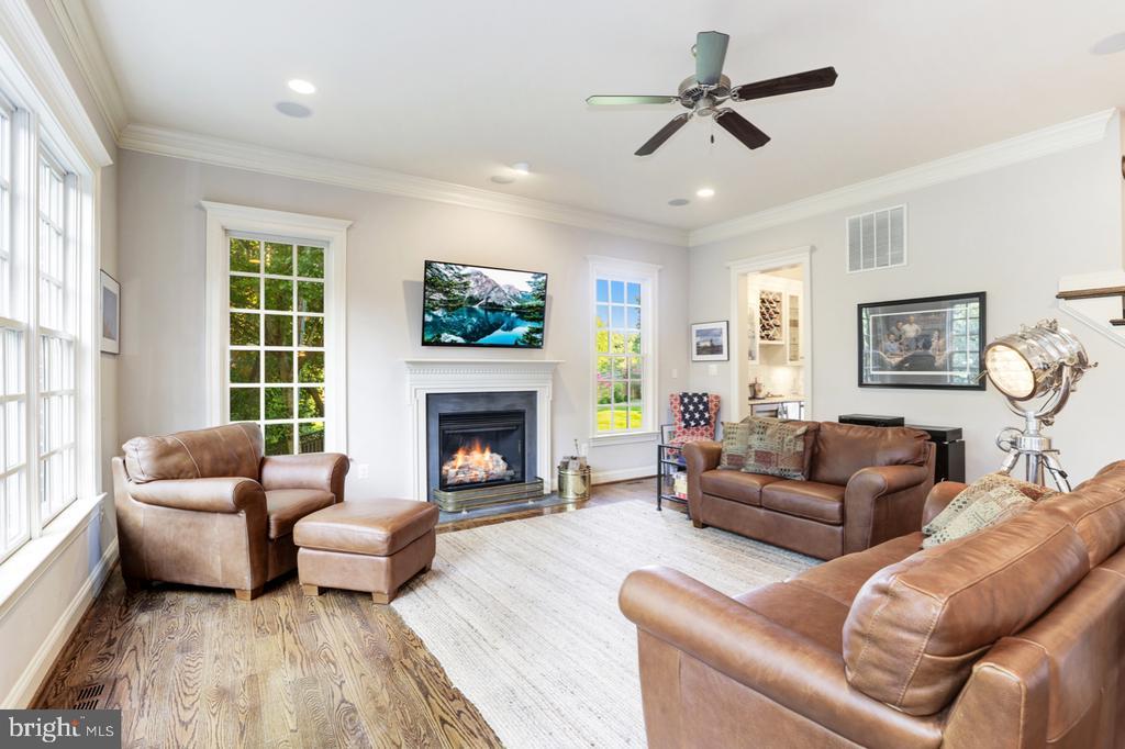 Family Room - Gas Fireplace - 4005 N RICHMOND ST, ARLINGTON