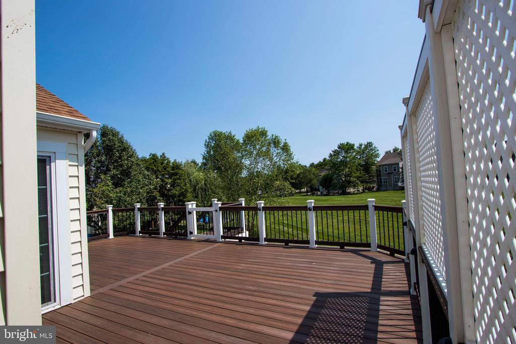 overlooking the expansive backyard and common area - 18728 POTOMAC STATION DR, LEESBURG