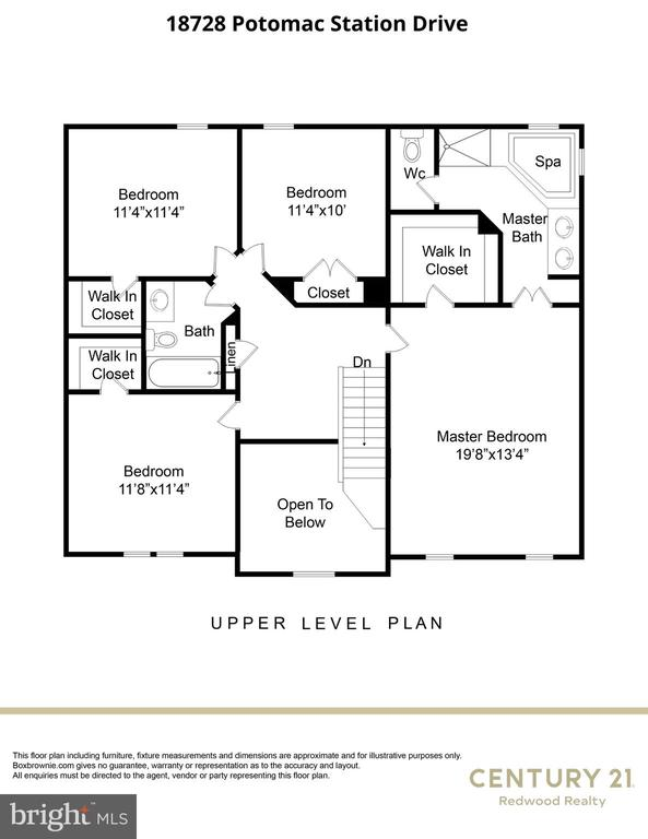 Upper Level Floorplan - 18728 POTOMAC STATION DR, LEESBURG