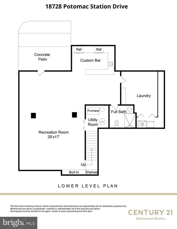 Lower Level Floorplan - 18728 POTOMAC STATION DR, LEESBURG