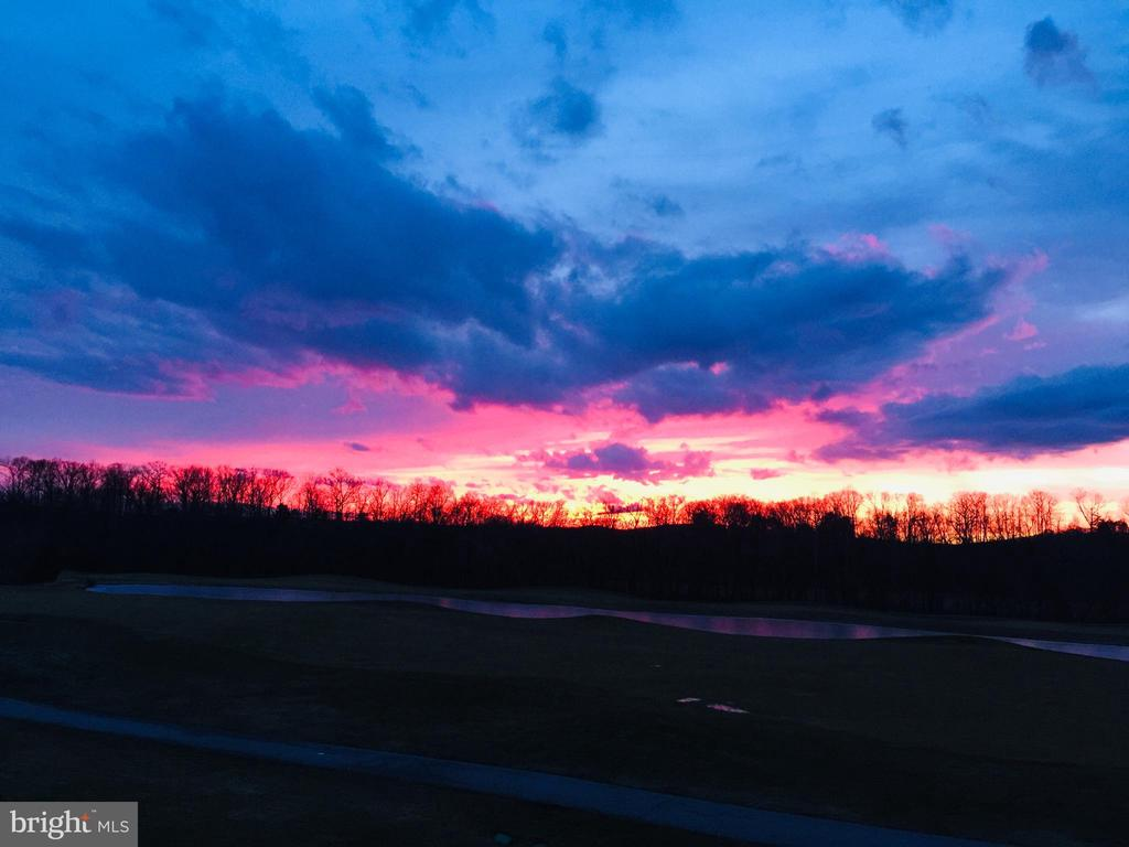 Twilight view of golf course from back deck! - 31 BATTERY RIDGE DR, GETTYSBURG