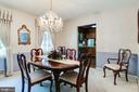 Formal dining room off kitchen - 6906 TOKEN VALLEY RD, MANASSAS