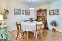Great informal dining space - 6906 TOKEN VALLEY RD, MANASSAS