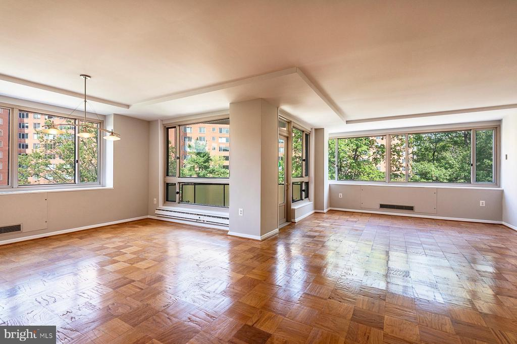 Great to entertain. Tons of windows - 4101 CATHEDRAL AVE NW #910, WASHINGTON
