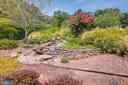 Beautiful landscaped waterfall - 17765 BRAEMAR, LEESBURG