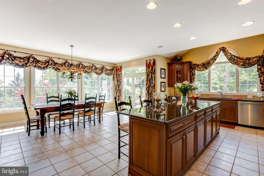 Spacious kitchen with lots of cabinets! - 17765 BRAEMAR, LEESBURG