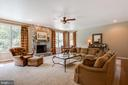 Large family room with wood burning fireplace - 17765 BRAEMAR, LEESBURG