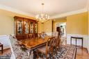 Large formal dining room with dual butler pantry - 17765 BRAEMAR, LEESBURG