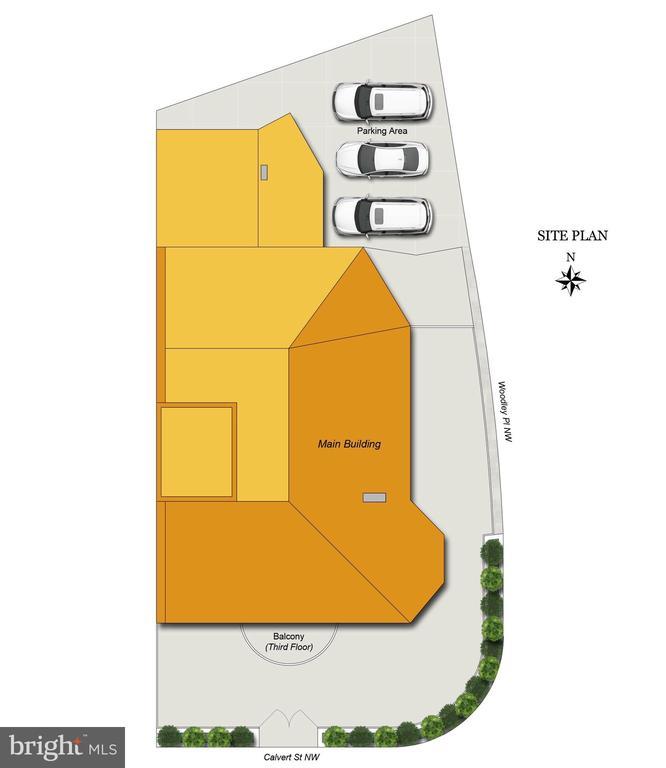 Site Plan - 2301 CALVERT ST NW, WASHINGTON