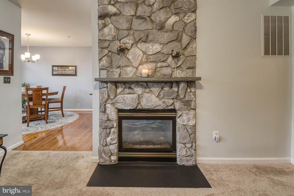Family Room Fireplace - 2406 RIPPLING BROOK RD, FREDERICK