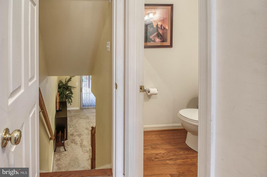Foyer to Lower Level & Powder Room - 2406 RIPPLING BROOK RD, FREDERICK