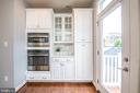 Built-in microwave and wall oven with coffee bar - 3504 11TH ST S, ARLINGTON