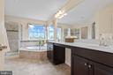 Master Bath with upgraded tile & cabinets - 43264 HEAVENLY CIR, LEESBURG