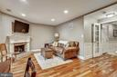 Rec Room with Fireplace & glass french door - 1176 N UTAH ST, ARLINGTON