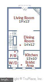 Main Floor Plan - 1176 N UTAH ST, ARLINGTON