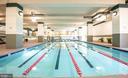 Indoor pool with lap lanes - 205 YOAKUM PKWY #1818, ALEXANDRIA