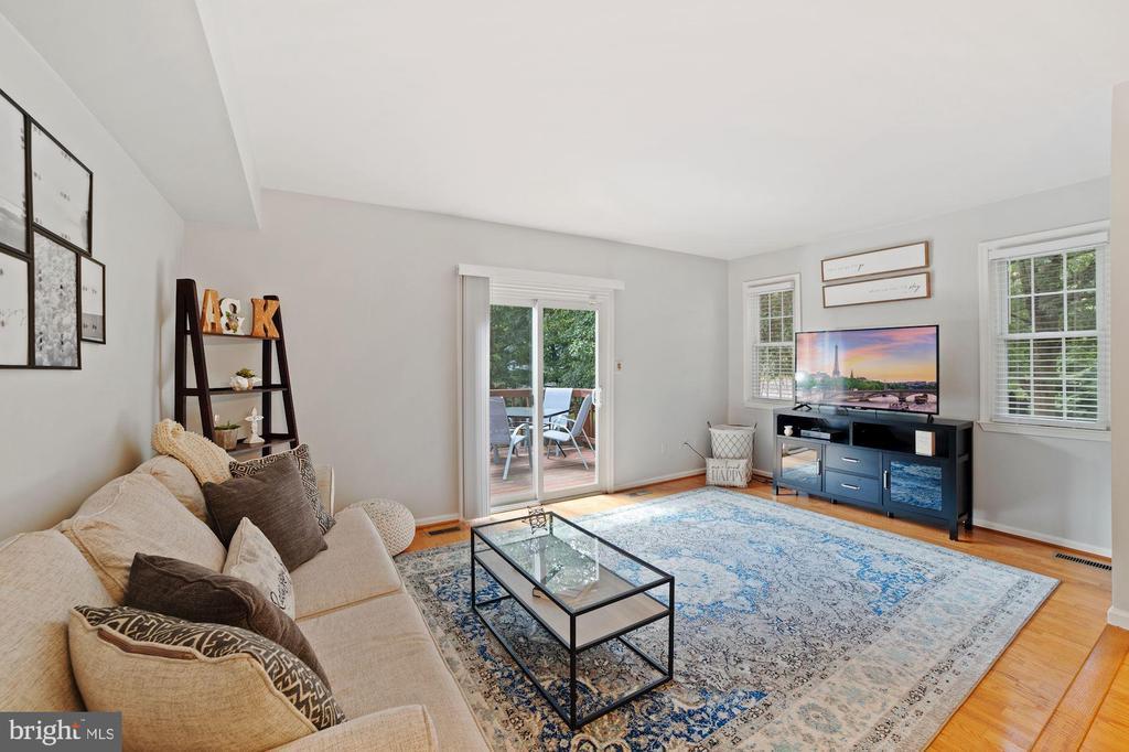 Living Rm - This Room Receives Fantastic Sunlight! - 8486 SPRINGFIELD OAKS DR, SPRINGFIELD