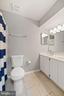 Master Bathroom - Modern Chrome Lighting Fixture - 8486 SPRINGFIELD OAKS DR, SPRINGFIELD