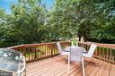 Deck - Seriously Beautiful Wooded Views! - 8486 SPRINGFIELD OAKS DR, SPRINGFIELD