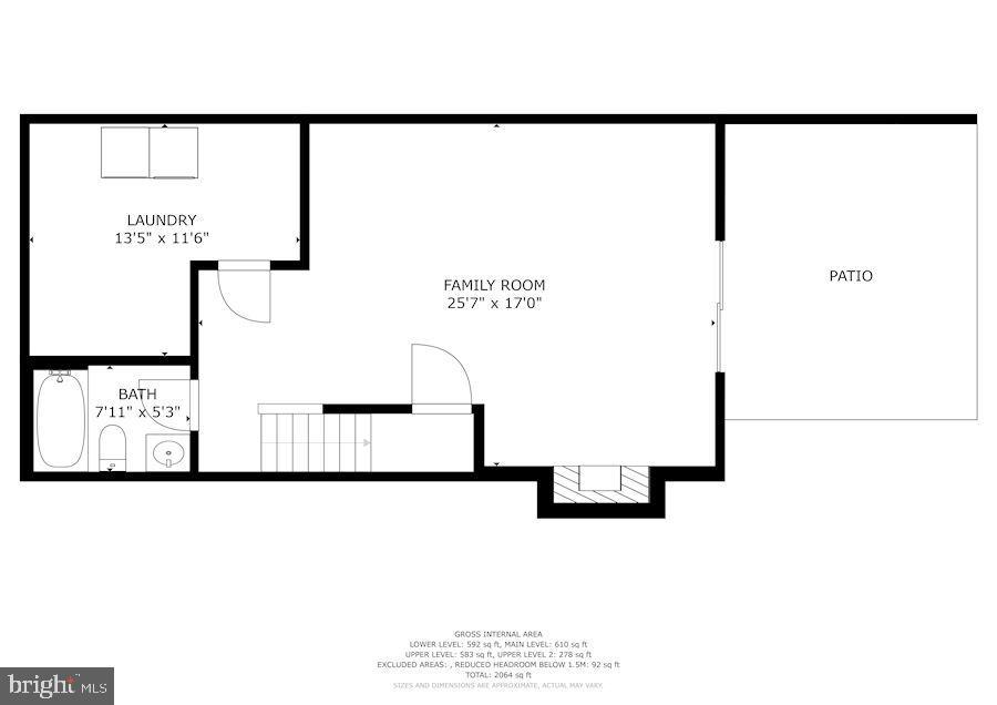 Floor Plan - Lower Level - 8486 SPRINGFIELD OAKS DR, SPRINGFIELD